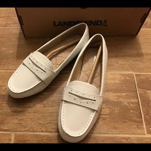 NEW LANDS END Leather Comfort Penny Loafers